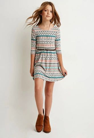 Tribal Print Bow-Back Dress (Kids) | Forever 21 girls | #forever21kids