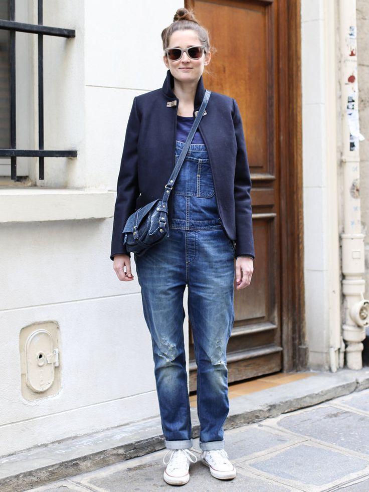 【ELLE】デニムサロペットに合わせる名品ジャケットを発見!|エル・オンライン
