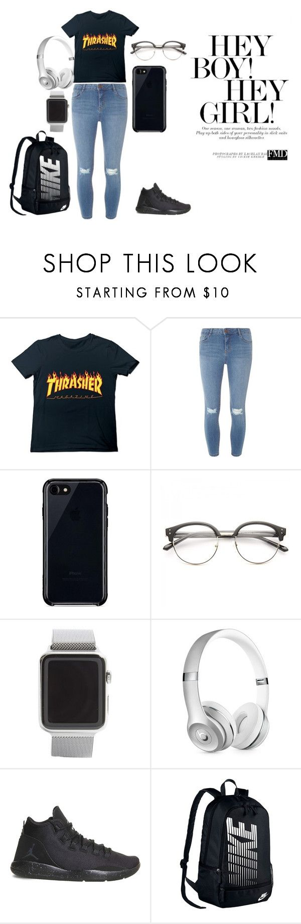 """""""Hey boy! Hey girl!"""" by momopris on Polyvore featuring Dorothy Perkins, Belkin, Apple, Beats by Dr. Dre and NIKE"""