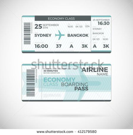 Free airline ticket boarding pass vector download free vector Vecteezy #SampleResume #PlaneTicketTemplate