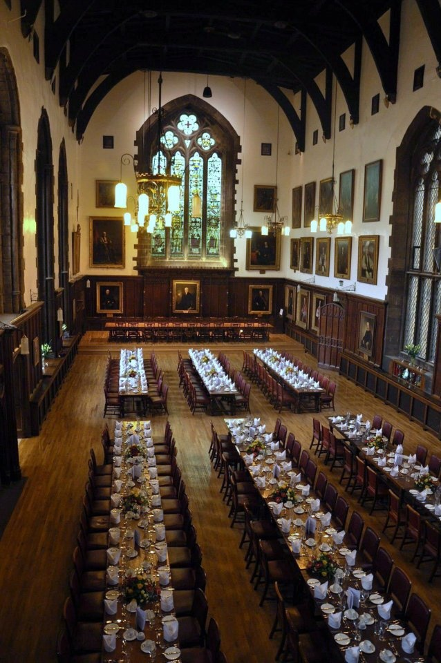 The Great Hall in Durham Castle, where we took all our meals.