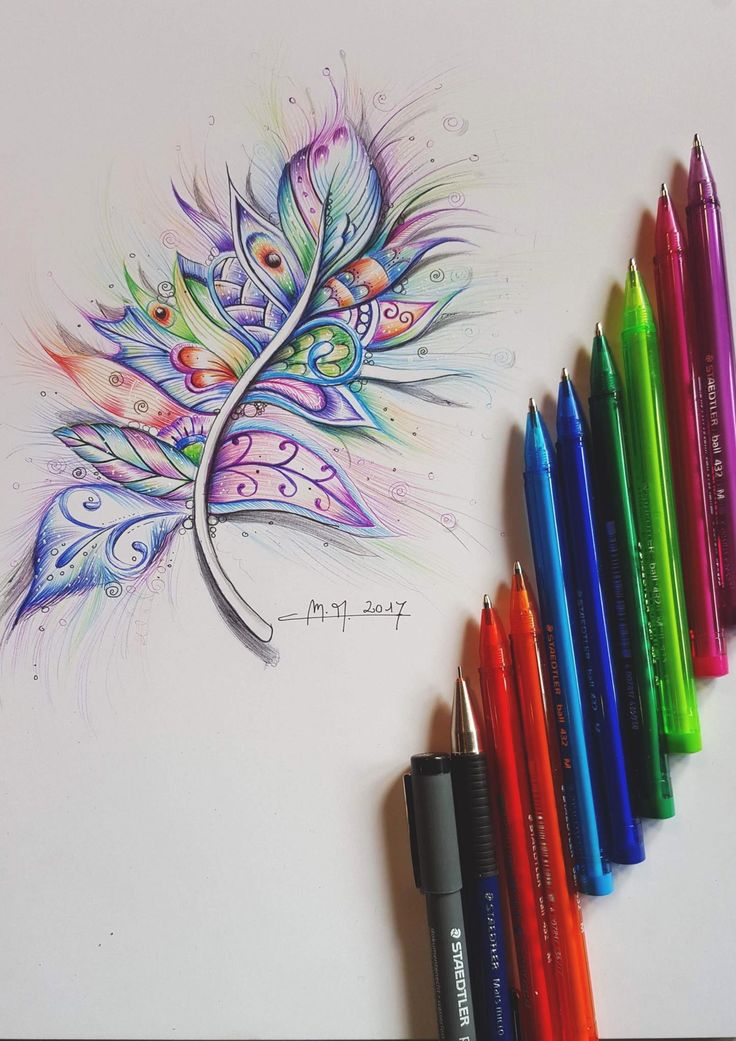 Martina Arend Zentangle ball point pen