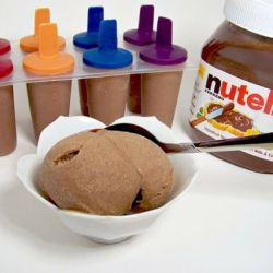 A recipe for a healthy (140 cal) frozen treat made from Bananas and Nutella