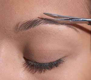 Trim Long Eyebrow Hairs After Waxing