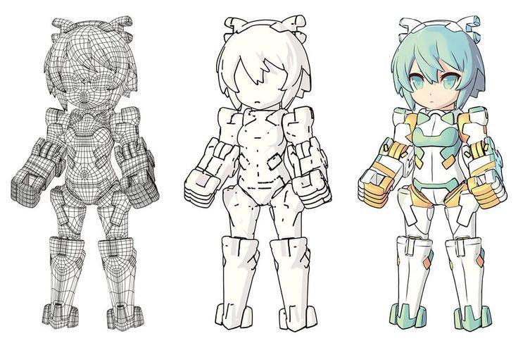 イクリエ「DESKTOP ARMY」における 3DCGモデルの多面展開 | 特集 | CGWORLD.jp