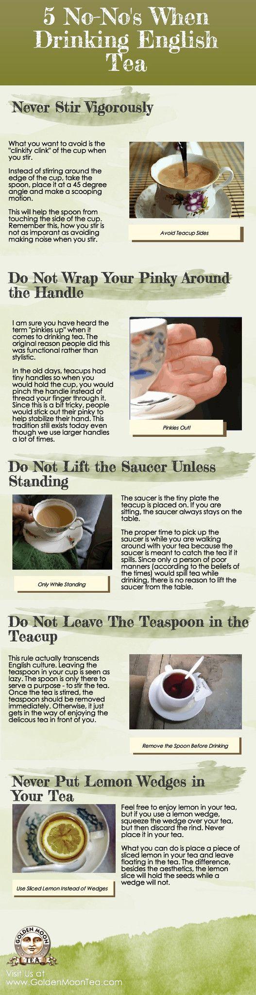 5 No-No's When Drinking English Tea
