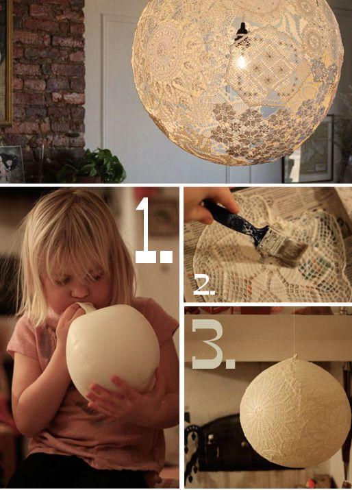 Faça você mesmo uma luminária! Simples, divertido e rápido. #ficaadica #DIY #facavocemesmo