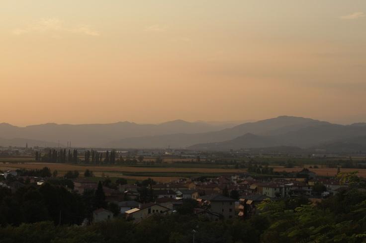 Sunset in Sarego, Italy