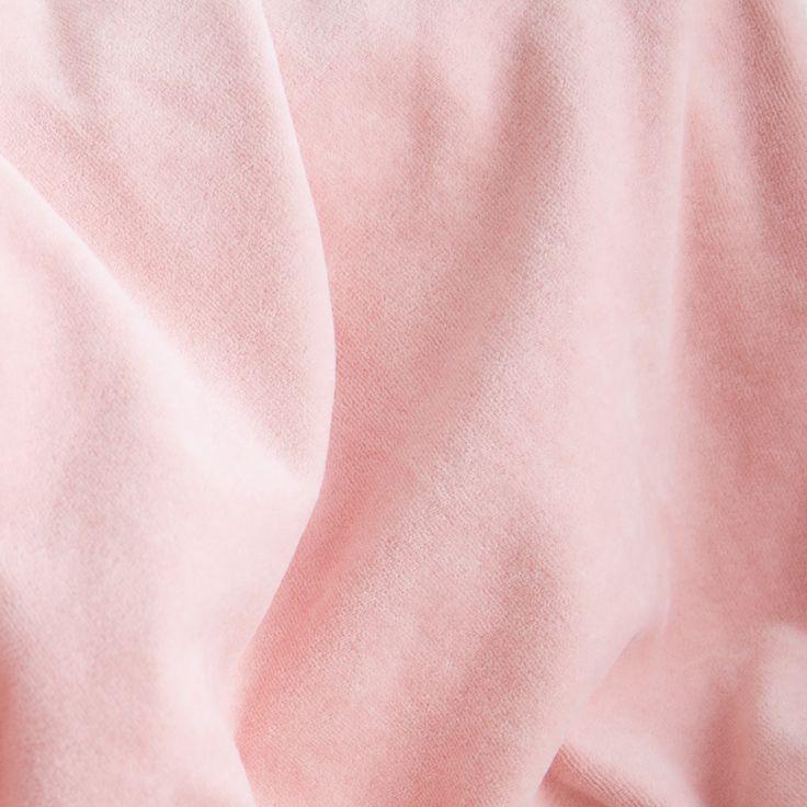 Pink organic cotton velour