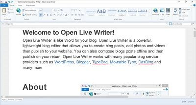 In an attempt to replicate the experience of  Live Writer as a Windows Store Trusted app for Windows 10, Microsoft has made available Open Live Writer as a free download on the Windows Store. The tool is essentially a word processor for bloggers that works with most of the popular blog services like WordPress, Blogger, TypePad and more. Windows Live Writer was rechristened as Open Live Writer and made available as an Open Source software. The desktop software version of Open Live Writer is…