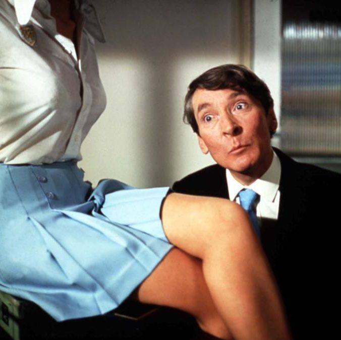 Gail Grainger and Kenneth Williams in Carry On Abroad. 1972