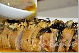 Lombinho de porco com mostarda e ervas... e muito, muito calor
