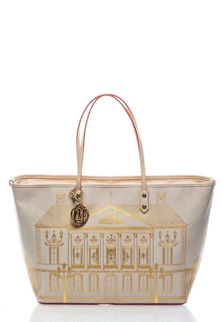 Love Moschino Beige & Gold Bag