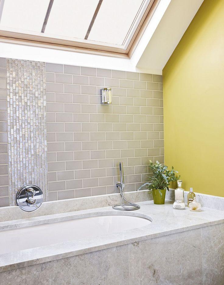 stylist bathroom surround ideas. Grey and Yellow Bathroom with Stone Bath Surround The Room Edit 41 best  ideas images on Pinterest Stylist Ideas Home Design Plan