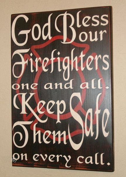 Firefighter Blessing With Large Maltese - Custom Distressed Wood Sign