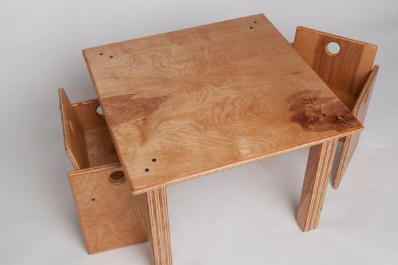 For the Skater! Wooden Toddler's Table and Chairs by fastindustries on Etsy, $250.00