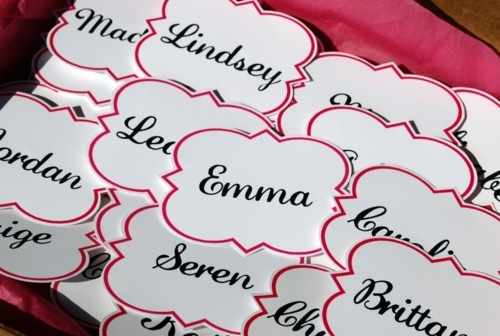 Cute and simple nametags for recruitment, bid day or collegiate/alumnae functions.