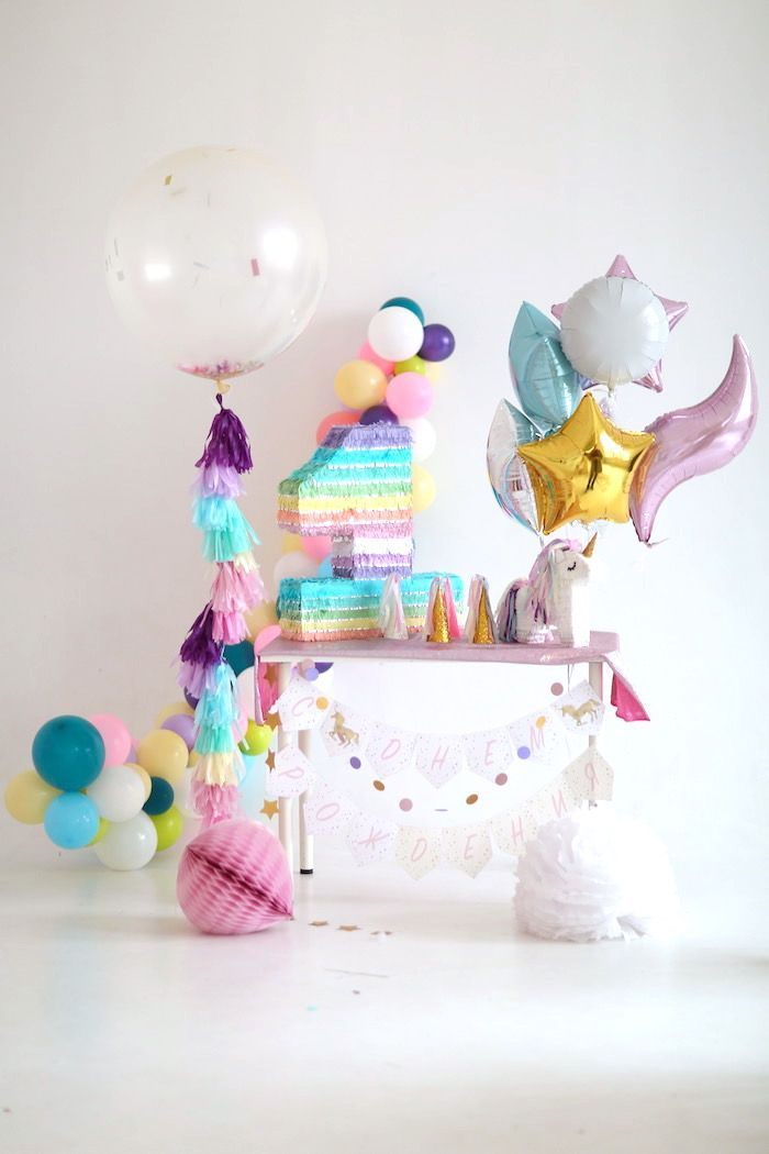 Pastel Unicorn Birthday Party.  For Kids.......sure, we'll go with that.