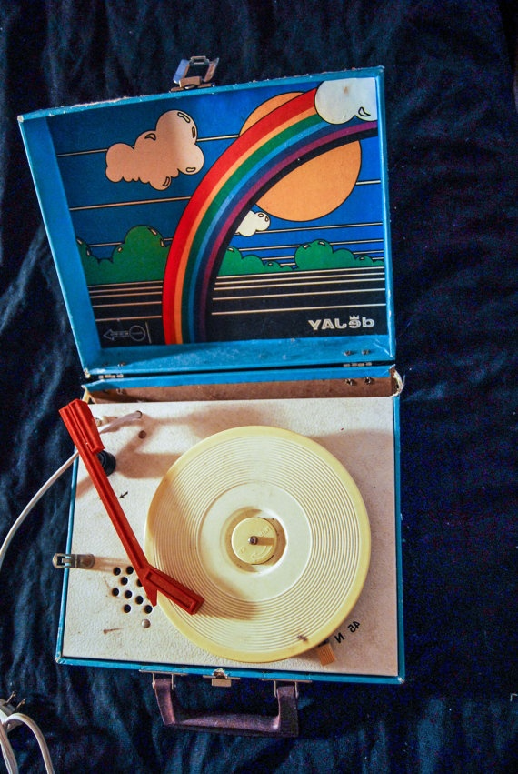 vintage kids record player