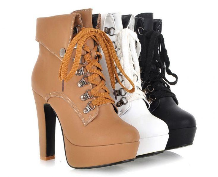 Fashion cute heels martin boots - Thumbnail 4