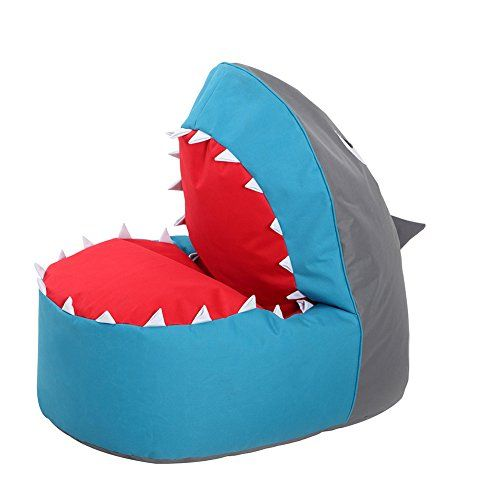 OLizee Creative Shark Bean Bag Chair For Kids Lovely Tatami Oxford Fabric Cartoon Lazy Sofa 374