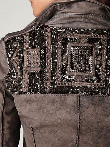 wait... beads, sequins AND leather!? LOVE.