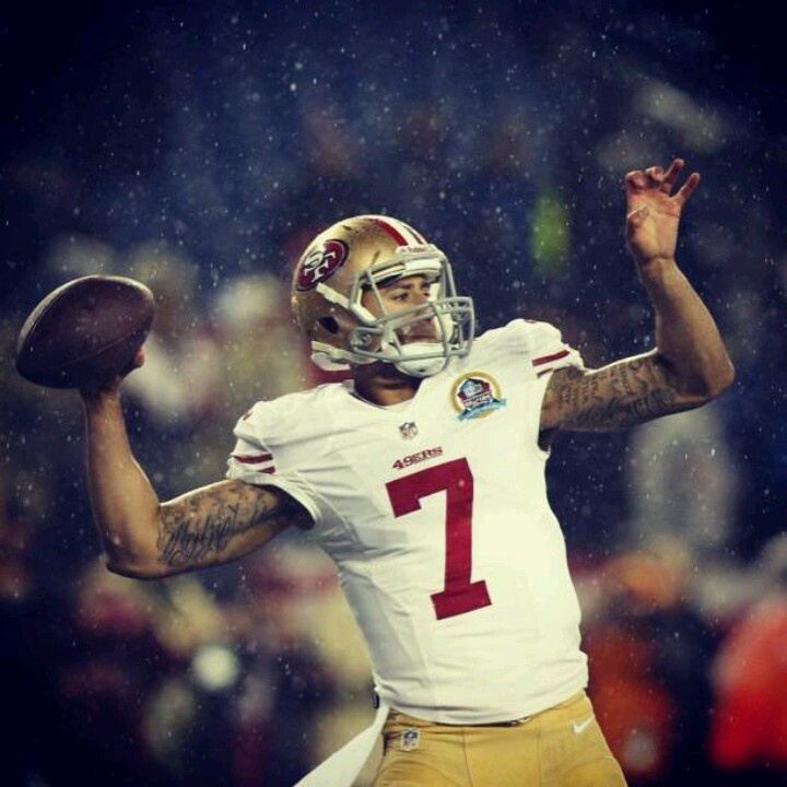 This is why I'm a die hard 49er fan!!!Collin Kaepernick!!!