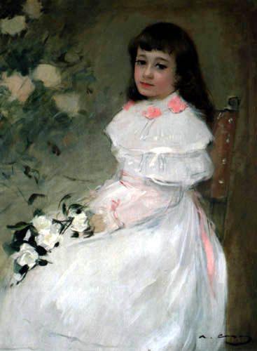 Ramon Casas I Carbo | Ramón Casas i Carbó - Retrato de María Rusiñol