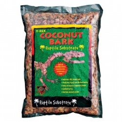 T-Rex Coconut Bark Reptile Substrate is superior to orchid bark, it is easily spot-cleaned, absorbs moisture and is very long-lasting.    Size: 10 quart