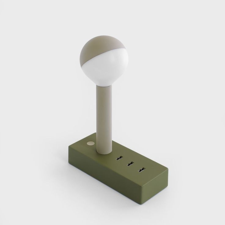 It's an LED lamp and it's also a smart 3-USB port station that can detect the fastest way to charge any device plugged into it.
