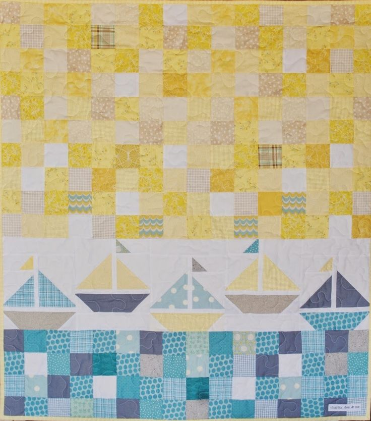 Charley, Dee, & Me: Sailboat Baby Quilt