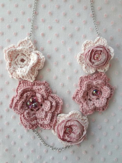Joanna's Roses Necklace - a crochet pattern