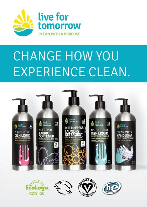 Live for Tomorrow's unscented award-winning products are on sale this month. Don't miss out - buy yours today at lft-products.com. #cleanwithapurpose #unscented #ecoexcellence
