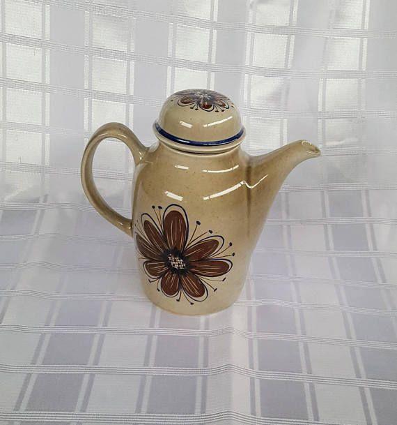 Stavangerflint Florry Coffee Pot made in Norway. Norwegian Porcelain