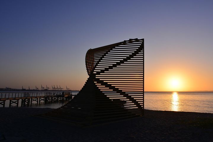 Today is the last day of Sculpture by the Sea, Aarhus - Denmark! Sømærke at sunrise by Clyde Yee