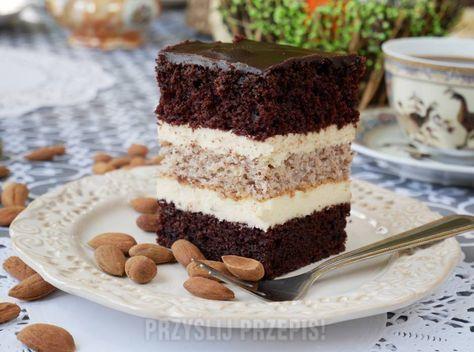Migdałowiec w cieście wiśniowo - czekoladowym