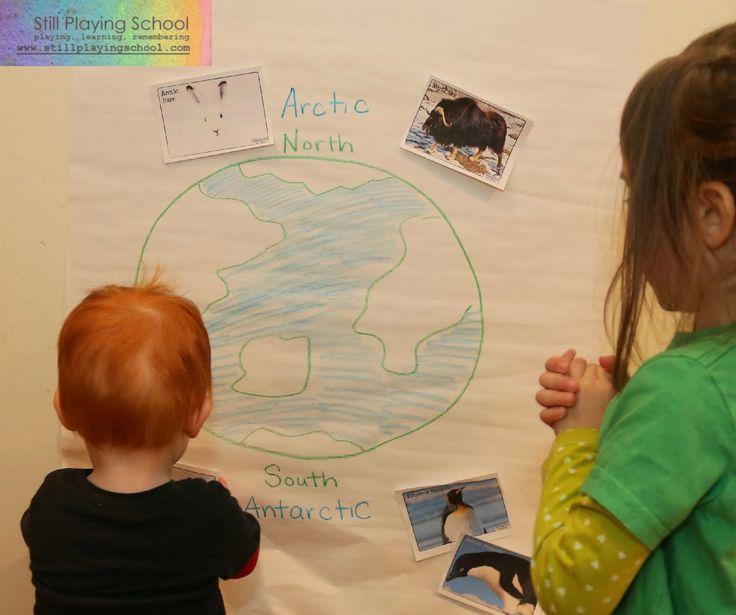 Still Playing School: Polar Animal Sort: Arctic vs Antarctic