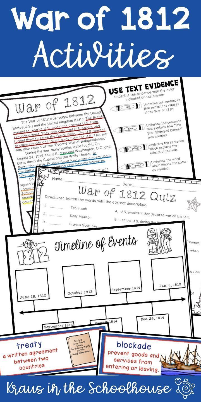 War of 1812 Activities   TpT Digital Activity Distance Learning   War of  1812 [ 1440 x 720 Pixel ]