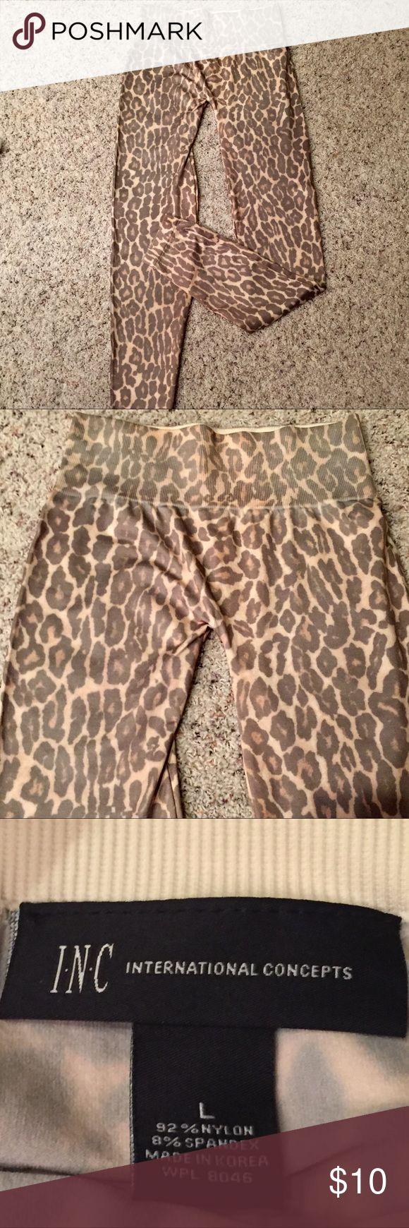 INC New Leopard leggings New w/o tag INC Leopard Leggings, super adorable😜 INC International Concepts Pants Leggings