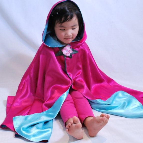 Fairy Princess CostumeBlue Raspberry Cape by FairyGodmother4Hire, $32.00