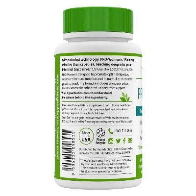 Hyperbiotics 30ct Pro-Women Probiotic Tablets