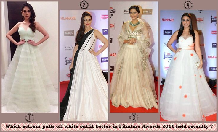 Choose your favourite one - 1, 2, 3 or 4 ? #Filmfare #2016 #white