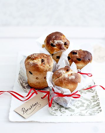 Individual Panettone (w/ butter & coffee) in hotel room welcome