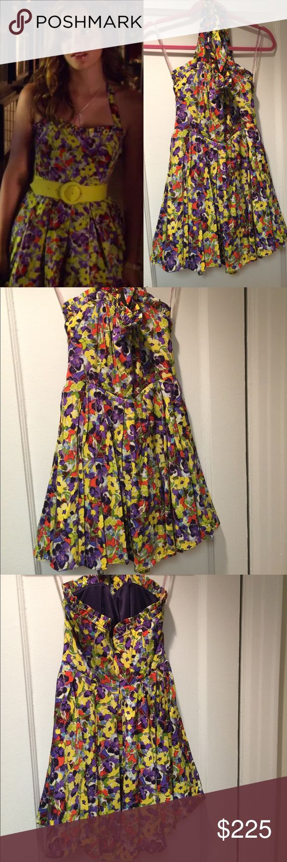 Alice + Olivia Floral Halter Dress 4 Blair Waldorf