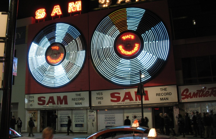 A legend lost -- Sam The Record Man's original store, with it's massive spinning record lights -- a Toronto landmark, for decades.