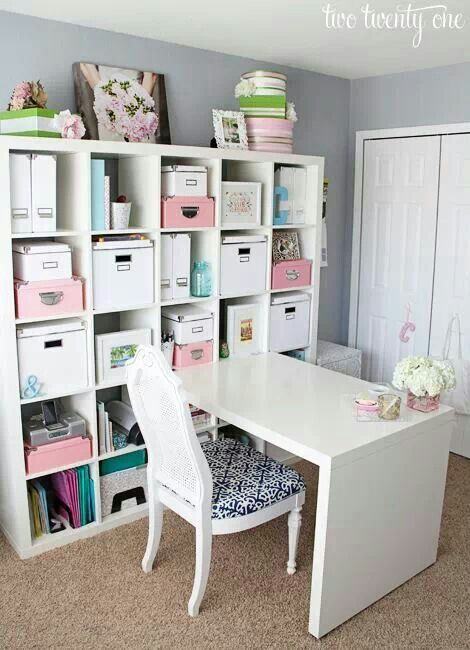 25 best ideas about kallax desk on pinterest bureau ikea ikea storage shelves and my spare room. Black Bedroom Furniture Sets. Home Design Ideas