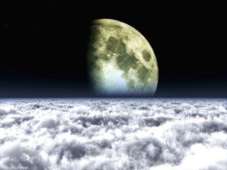 'Moon over clouds' von Alexandra Kleist bei artflakes.com als Poster oder Kunstdruck $14.15