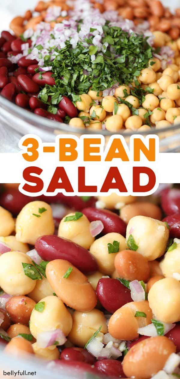Three Bean Salad Recipe Belly Full Recipe In 2020 Bean Salad Recipes Bean Recipes Bean Salad