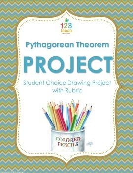 Students will enjoy incorporating art into math class with this Pythagorean Theorem Drawing Project with rubric for 7th or 8th grade math class