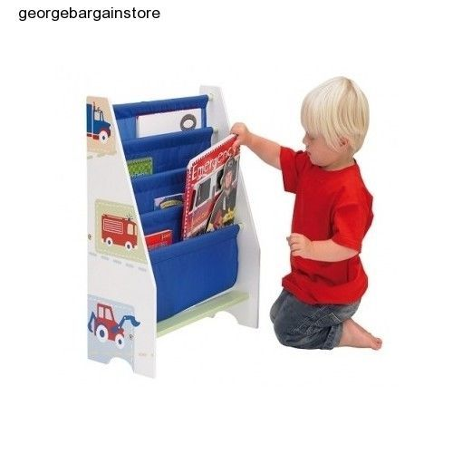 Kids Bookcase Storage Furniture Bookshelf Rack Bedroom Organizer Children Room